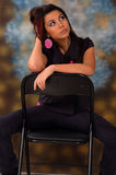 Beauty Girl in Studio Stock Photography