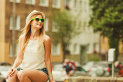Beauty girl in summer time. Royalty Free Stock Photos