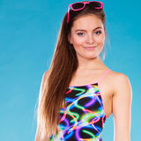 Beauty girl in swimsuit fashion Royalty Free Stock Photos