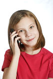 Beauty girl talking on phone Royalty Free Stock Photo