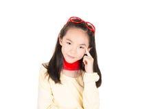 Beauty girl thinking Royalty Free Stock Photography