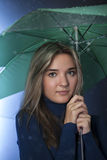 Beauty girl with umbrella Stock Photography