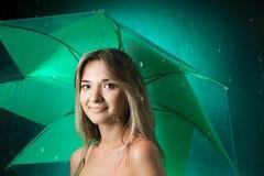 Beauty girl with umbrella Stock Photo