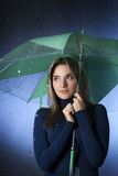 Beauty girl with umbrella Royalty Free Stock Photos