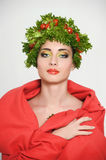 Beauty girl with Vegetables hair style. stock photography