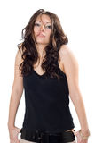 The beauty girl in a vest Stock Images