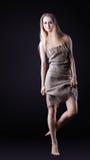 Beauty Girl walk in rag Royalty Free Stock Photo