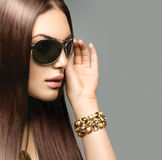 Beauty girl wearing sunglasses Royalty Free Stock Image
