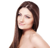 A beauty girl on the white background Stock Photo