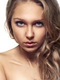 Beauty girl on white background Stock Image