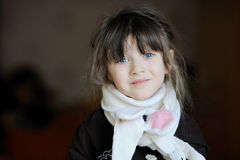 Beauty girl in white scarf Royalty Free Stock Image