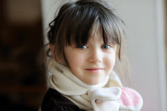 Beauty girl in white scarf Royalty Free Stock Photos