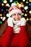 Beauty girl on the winter Royalty Free Stock Images