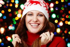 Beauty girl on the winter Royalty Free Stock Photos
