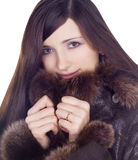 Beauty girl in winter clothes Royalty Free Stock Photos