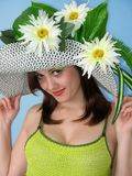 Beauty Girl With Flowers Stock Photo