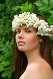 Beauty Girl With Wreath Stock Photo