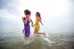 Beauty girls on beach Royalty Free Stock Photo