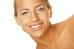 Beauty giving you a big smile Stock Photos