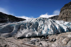 Beauty of the glaciers Nigardsbreen,Norway Royalty Free Stock Photography