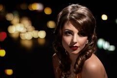 Beauty glamor girl portrait Royalty Free Stock Images