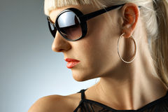 Beauty in glasses Stock Image