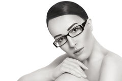 Beauty in glasses Stock Photos