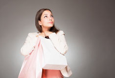 Beauty goes shopping. Stock Images