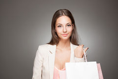 Beauty goes shopping. Stock Photo