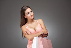 Beauty goes shopping. Stock Image