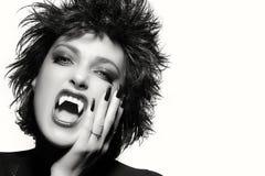 Beauty Gothic Girl. Vampire Makeup. Monochrome portrait Royalty Free Stock Photography