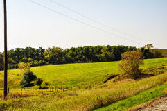 Beauty From A Gravel Road. The scenery just off a gravel road in Northeast Iowa royalty free stock photo