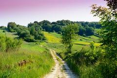 Beauty green hills in Poland Stock Photos