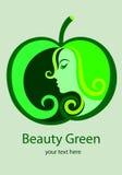 Beauty Green Logo Royalty Free Stock Photography