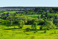 Beauty green summer rural landscape Royalty Free Stock Photo