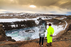 Beauty at Gullfoss Stock Photography