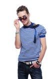 Beauty guy in sunglasses Stock Photo