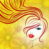 Beauty Hair Represents Good Looking And Attractive Stock Image