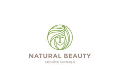 Beauty Hairdresser salon Woman Logo design  Royalty Free Stock Photos