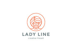 Beauty Hairdresser salon Woman Logo design vector Stock Photography