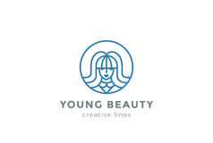 Beauty Hairdresser salon Woman Logo design vector Royalty Free Stock Photo