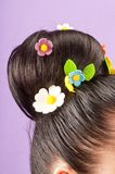 Beauty  hairstyle with candy Stock Image