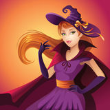 Beauty Halloween witch Stock Photo