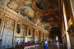 Beauty halls of the Louvre Royalty Free Stock Photo