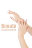 Beauty hands Stock Photography