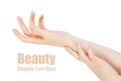 Beauty hands. This photo is beauty image stock photo