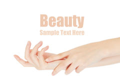 Beauty hands Stock Photos