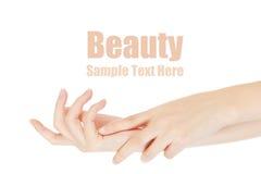 Beauty hands Stock Photos