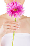 Beauty hands and flower Royalty Free Stock Photos