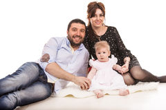 Beauty happy family Stock Image